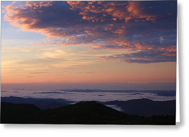 Sea Of Clouds Blue Ridge Mountains Greeting Card