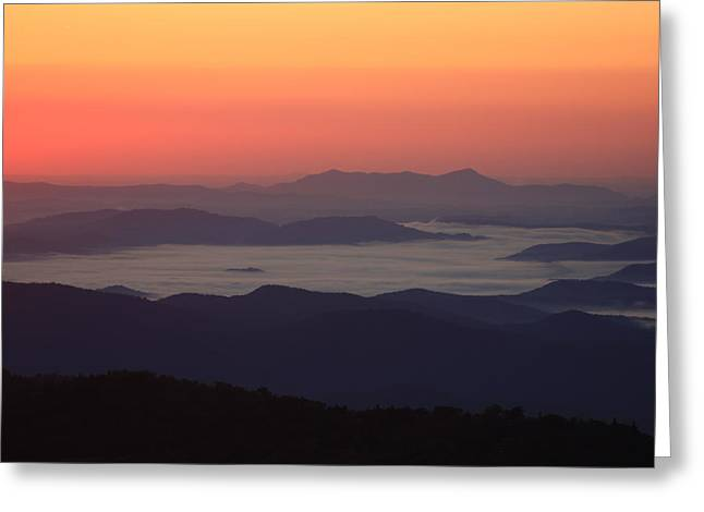 Sea Of Clouds-blue Ridge Mountains Nc Greeting Card