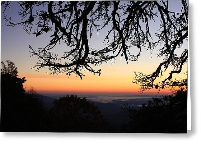 Sea Of Clouds On The Blue Ridge Greeting Card