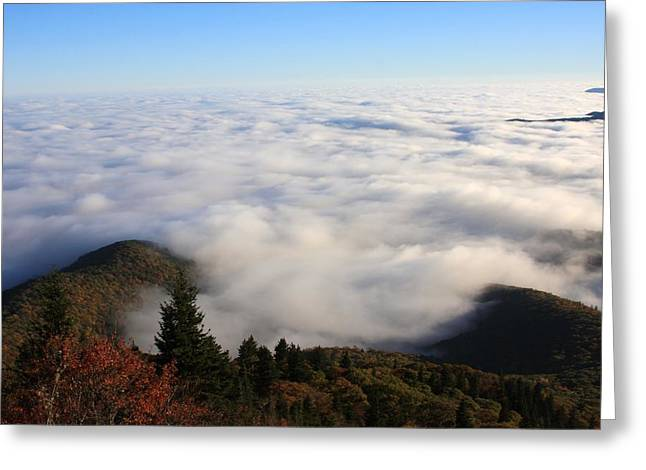 Sea Of Clouds On The Blue Ridge Parkway Greeting Card by Mountains to the Sea Photo