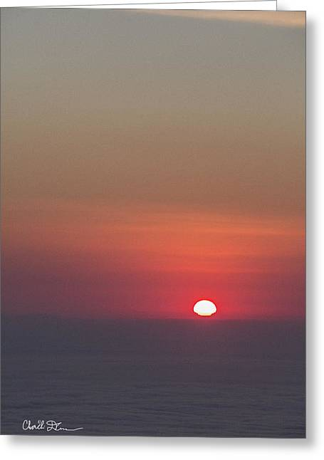 Sea Of Clouds Sunset Greeting Card