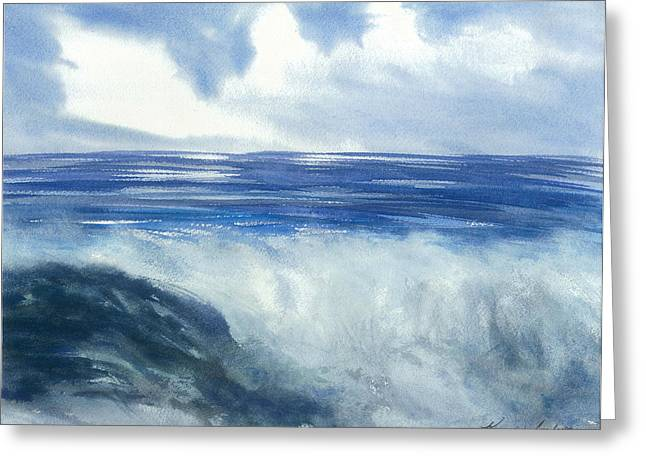 Sea Of Glory  Greeting Card by Karen  Condron