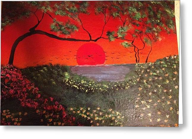 Greeting Card featuring the painting Sea Of Japan by Michael Rucker