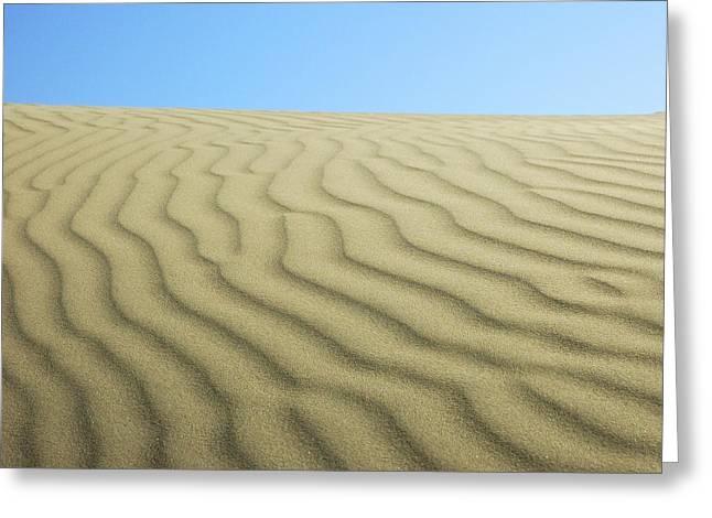 Sea Of Sand Greeting Card by Lara Ellis
