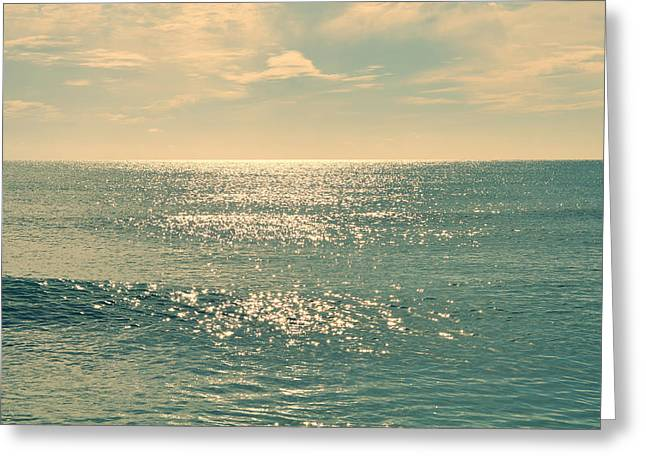 Sea Of Tranquility Greeting Card by Laura Fasulo