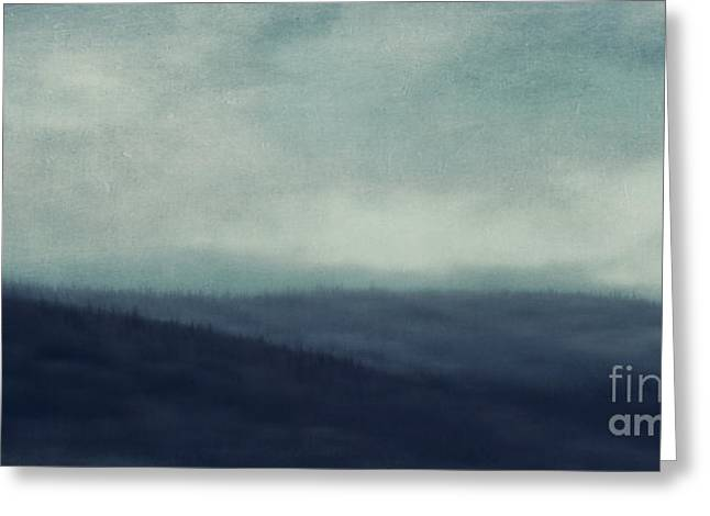 Sea Of Trees And Hills Greeting Card by Priska Wettstein