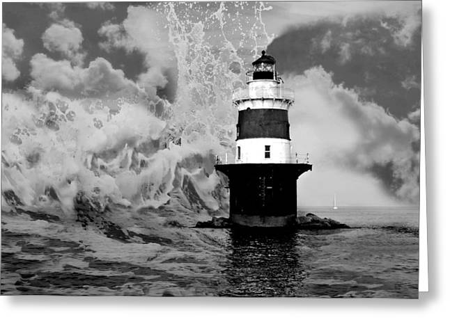 Beyond Sea And Sky Greeting Card by Diana Angstadt