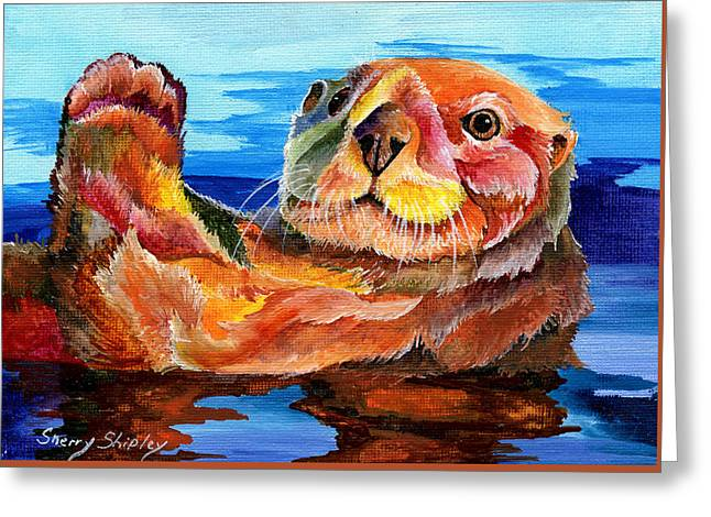 Sea Otter Greeting Card