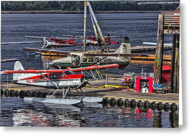 Sea Planes  1s14v1 Greeting Card by Timothy Latta