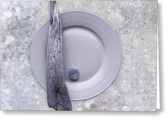 Sea Plate - S32b Greeting Card by Variance Collections