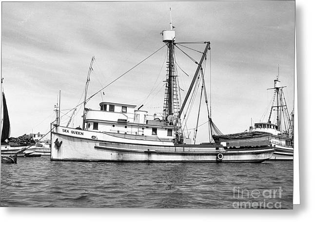 Purse Seiner Sea Queen Monterey Harbor California Fishing Boat Purse Seiner Greeting Card