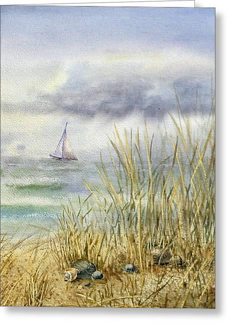 Sea Shore Greeting Card by Irina Sztukowski
