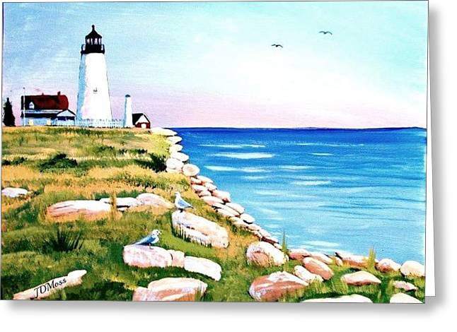 Sea Shore Greeting Card by Janet Moss