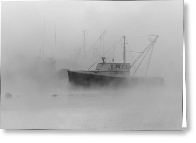 Sea Smoke Jonesport Maine  Greeting Card