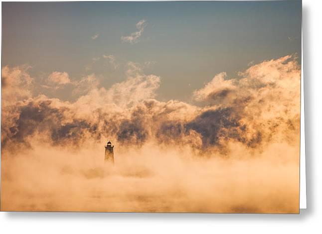 Sea Smoke Greeting Card by Robert Clifford