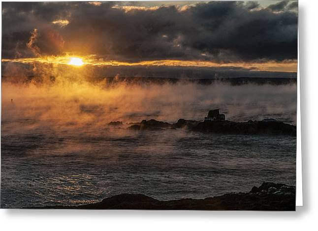 Sea Smoke Sunrise Greeting Card