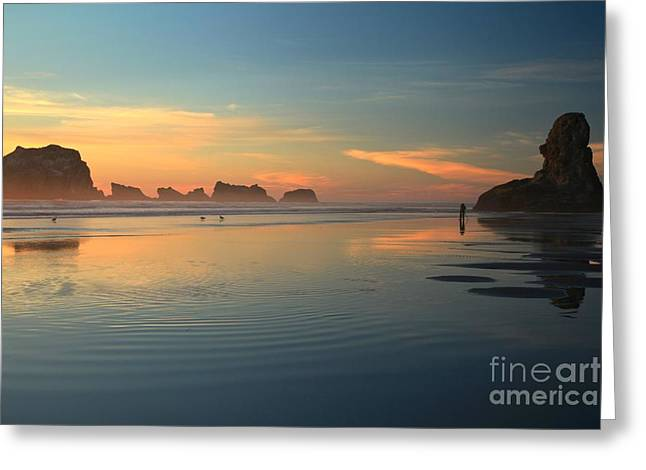 Sea Stack Photographer Greeting Card by Adam Jewell