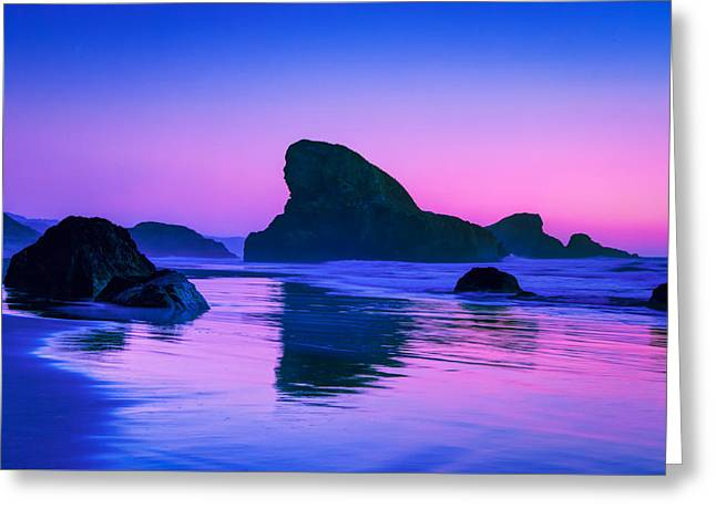 Sea Stacks On The Oregon Coast Greeting Card by Rich Leighton