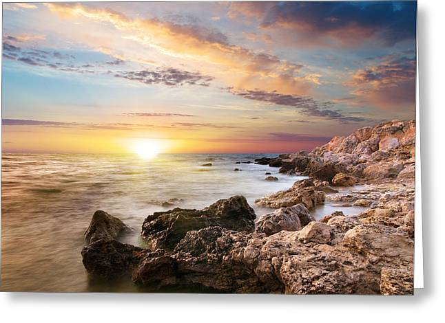Sea Stones Greeting Card by Boon Mee