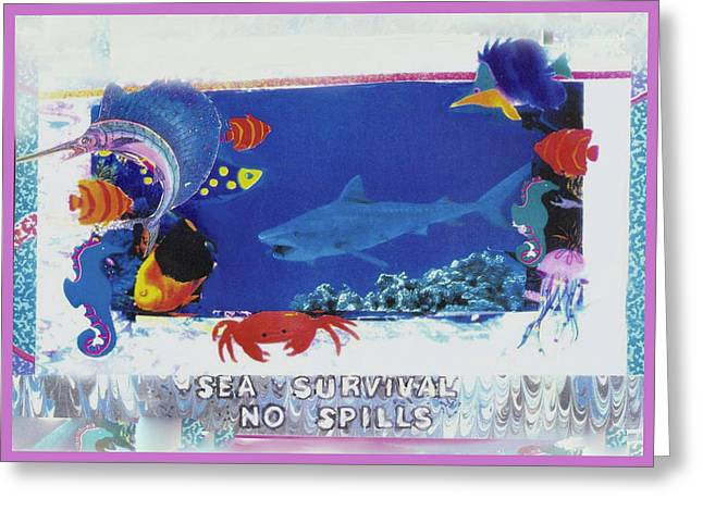 Sea Survival No Spills Greeting Card by Mary Ann  Leitch