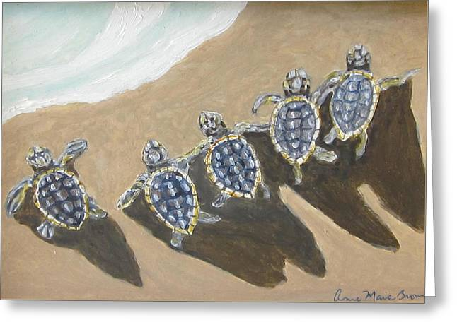Sea Turtle Babes Greeting Card