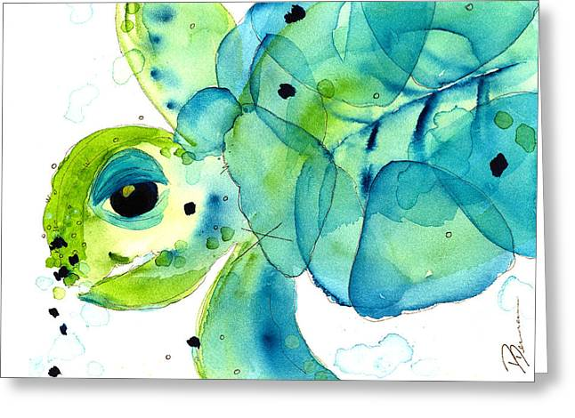 Sea Turtle Greeting Card by Dawn Derman
