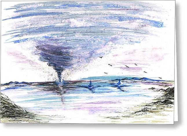 Sea Twister Greeting Card by Teresa White