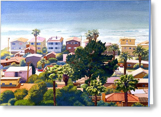 Sea View Del Mar Greeting Card