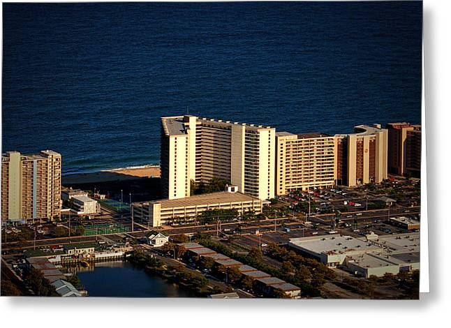 Sea Watch Condominium Ocean City Md Greeting Card by Bill Swartwout