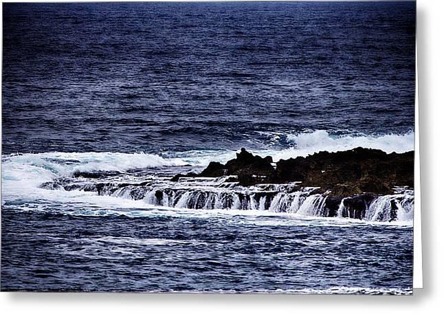 Sea Waterfall Greeting Card by Douglas Barnard