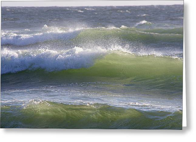 Sea Waves Greeting Card by Adria Trail