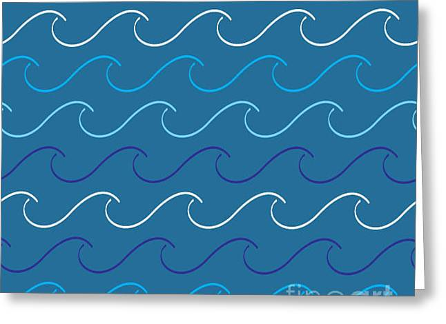 Sea Waves Pattern Greeting Card