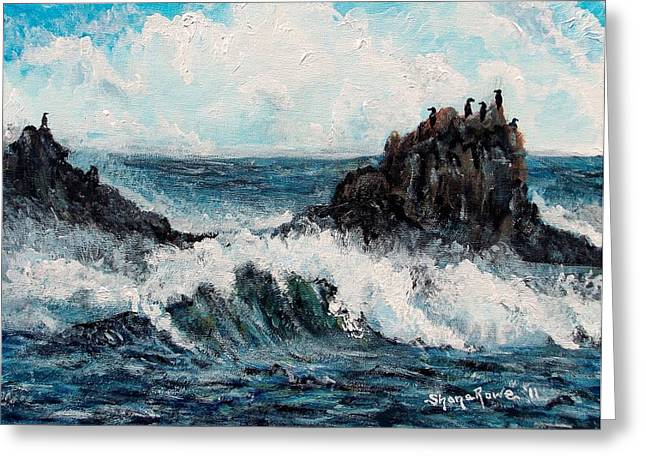 Greeting Card featuring the painting Sea Whisper by Shana Rowe Jackson