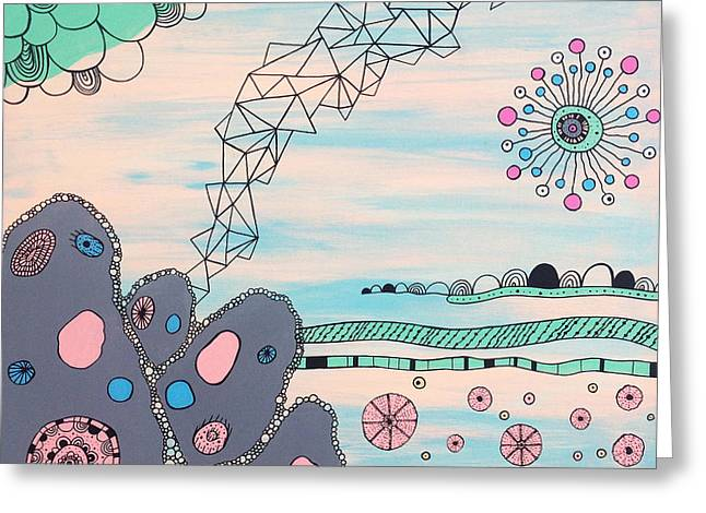 Seabed Spirit Greeting Card by Susan Claire