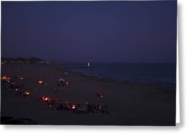 Seabright At Dusk Greeting Card by Tom Kelly