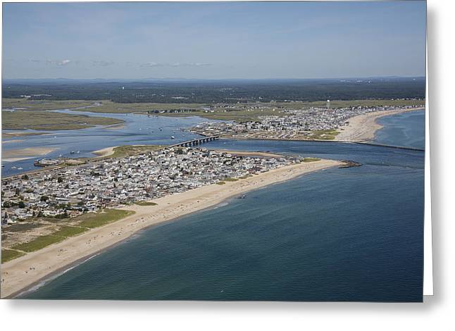 Seabrook Beach, New Hampshire Nh Greeting Card by Dave Cleaveland