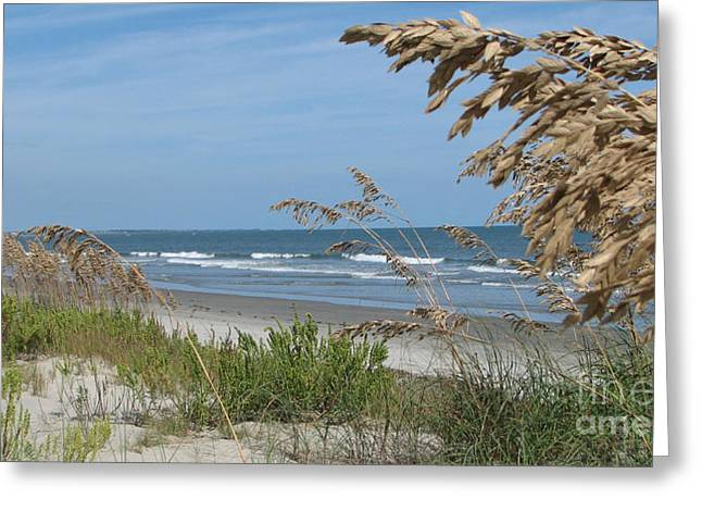 Greeting Card featuring the photograph Seabrook Sc Beach by Val Miller