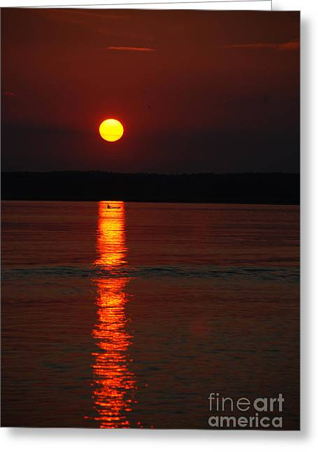 Seabrook Sunset Greeting Card