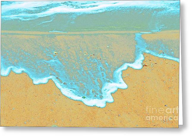 Seafoam Abstract Greeting Card by Cindy Lee Longhini