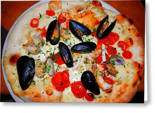 Seafood Pizza Greeting Card