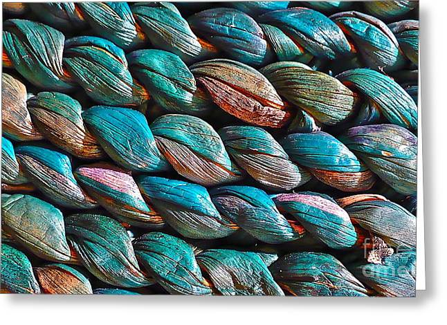 Greeting Card featuring the photograph Seagrass Blue by Linda Bianic