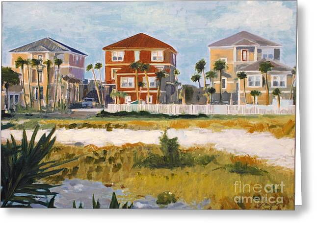 Seagrove Beach Houses Greeting Card