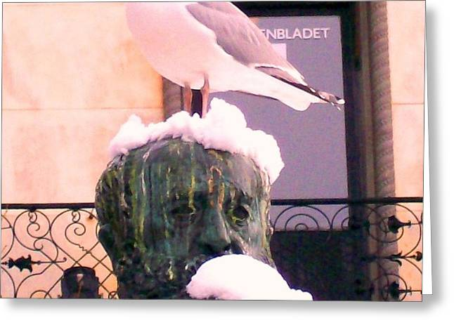 like a seagull in the city, I would say I love you  Greeting Card