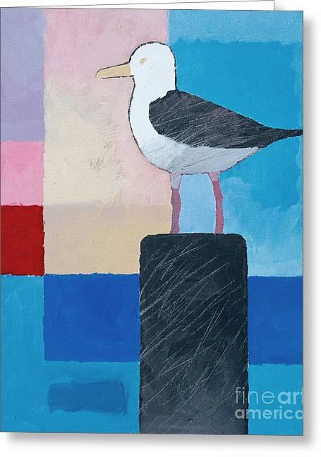 Seagull Greeting Card by Lutz Baar