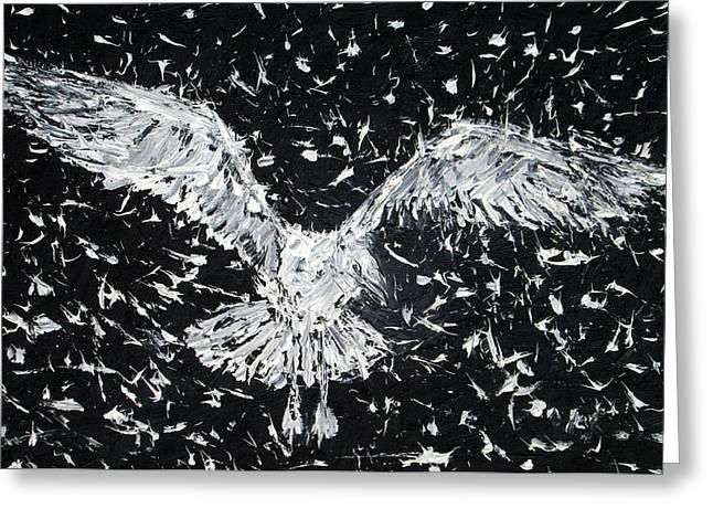 Seagull - Oil Portrait Greeting Card by Fabrizio Cassetta