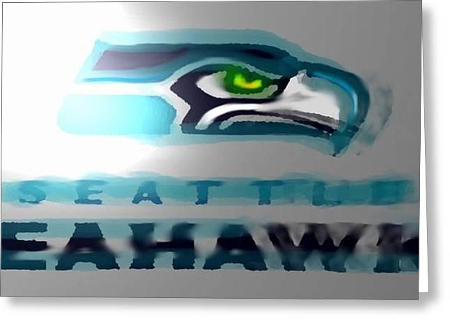 Seahawks 2 - Seattle Greeting Card