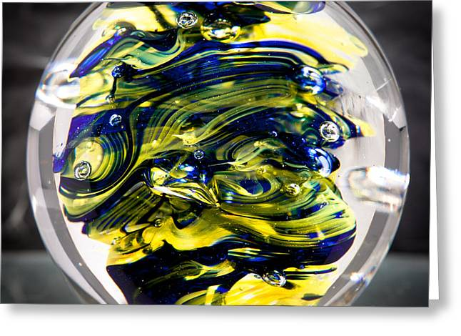 Seahawks Glass -  Solid Glass Sculpture  Greeting Card by David Patterson