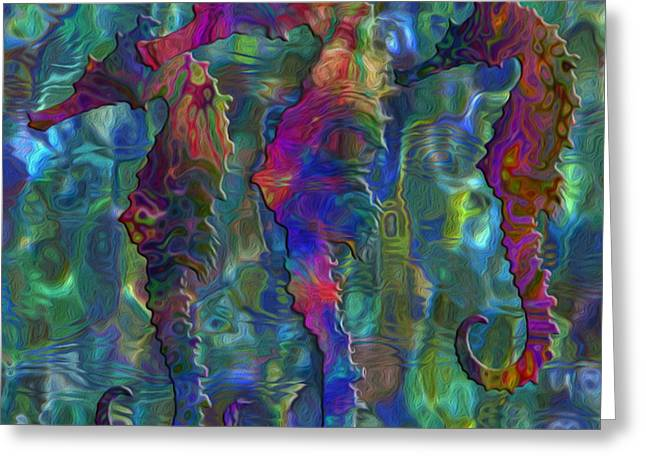 Seahorse 2 Greeting Card by Jack Zulli