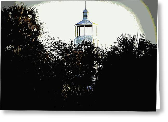 Seahorse Key Lighthouse Greeting Card by Sheri McLeroy