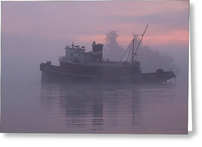 Seahorse On A Misty Morning Greeting Card by Mark Alan Perry